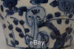 16th Century, Ming Dynasty, Antique Chinese Porcelain Blue and White Jarlet