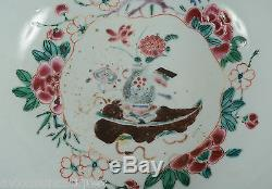 18C Chinese Porcelain Batavia Enamel Vase Tobacco Leaf Butterfly Bowl Qianlong