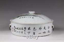 19/20th centuryA beautiful famille rose chinese porcelain tureen and cover