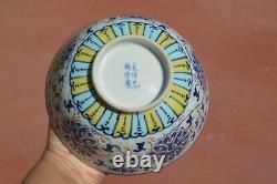1900's Chinese Ducai Enamel Famille Rose Porcelain Bowl Marked