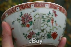 2 Pcs Chinese Porcelain Hand Painted Bowl Marks