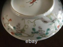 A Beautiful Antique Chinese / Oriental Polychrome Enamel Dish, Qing Dynasty