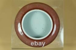 A Chinese Peachbloom-Glazed Porcelain BrushWasher, Marked