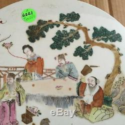 A Chinese Porcelain Plaque Famille Rose