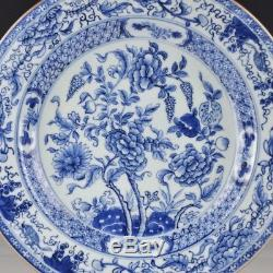 A Fine And Perfect Chinese Porcelain 18th Century Blue And White Charger