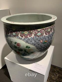 A Large Chinese Famille Rose Porcelain Jardiniere From Christie's