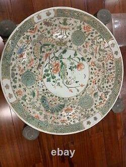 A Large Chinese Family Rose Porcelain Charger