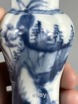A Mini Chinese kangxi Period Porcelain Vase With Lid