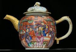 A top quality decoration antique Chinese porcelain export tea pot 18th century