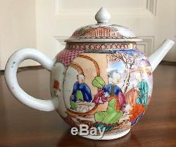 An Antique Chinese Export Porcelain Teapot, Qing, 18th Century, 13cm High