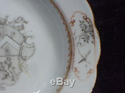 Antique 17/18C Kangxi/YongZheng Chinese export rare armorial porcelain plate 9