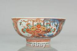 Antique 18th century Qing Dynasty Chinese Porcelain Amsterdams Bont Bowl