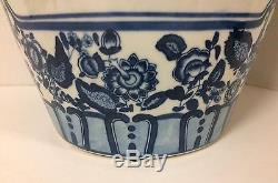Antique 20 Large Chinese Blue and White Porcelain Jar Vase Lidded
