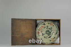 Antique Chinese 17th C Porcelain Ming Transitional China Plate ZHangzhou