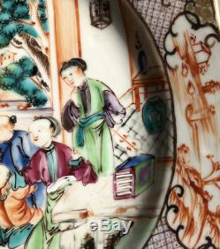 Antique Chinese 18th Century Qianlong Export Famille Rose Porcelain Plate