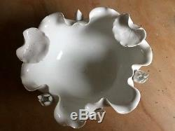 Antique Chinese Blanc de Chine Dehua White Porcelain Lotus Flower BOWL Aesthetic