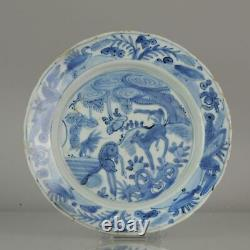 Antique Chinese Domestic Market ca 16th c Porcelain China Plate Flowers