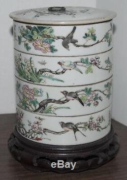 Antique Chinese Famille Rose Porcelain Stacking Bowls Among the Very Finest