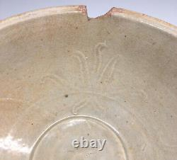 Antique Chinese Late Northern Song Yuan Dynasty Qingbai Porcelain Bowl w Lotus