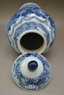 Antique Chinese Porcelain Blue&White Vase landscape Kangxi Period