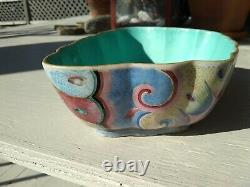 Antique Chinese Porcelain Bowl Butterfly Tongzhi Famille Rose
