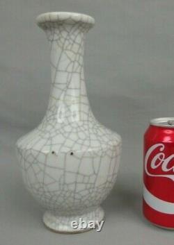 Antique Chinese Porcelain Crackle Glazed Celadon Bottle Vase 19th C