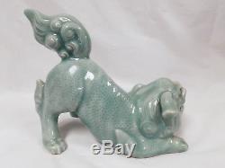 Antique Chinese Porcelain Crouching Foo Dog Foo Lion