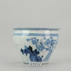 Antique Chinese Porcelain Plate 1600-1644 Water Pot Ming Dynasty Tianqi/