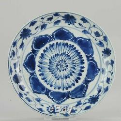 Antique Chinese Porcelain Plate ca 1600 century Ming Dynasty Wanli
