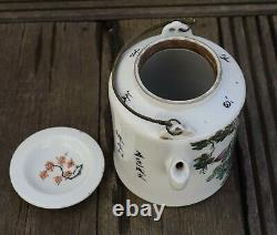 Antique Chinese Porcelain Teapot from early republic 1919