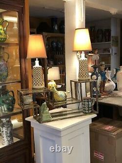 Antique Chinese Porcelain Vase Lamp Famile Verte Kangxi Mark
