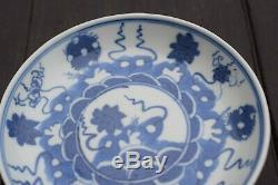 Antique Chinese Porcelain saucer in Blue & White early 18th century