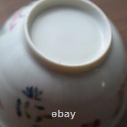Antique Chinese Porcelain teacup & saucer Qianlong Period Famille Rose