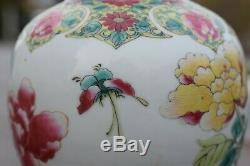 Antique Chinese Porcelain vase famille rose from Qianlong period