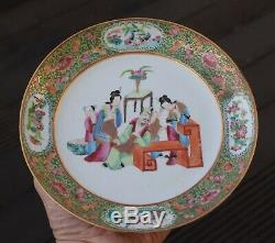 Antique Chinese Qing Dynasty Rose Mandarin dish