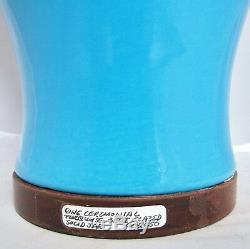 Antique Chinese Turquoise Blue Porcelain Solid Jar / Vase or Lamp Body (18)