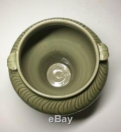 Antique Chinese Yuan Dynasty Yaozhou Kiln Celadon Glaze Porcelain Vase Floral