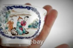 Antique Chinese bowl 18th C famille rose Qing Yongzheng