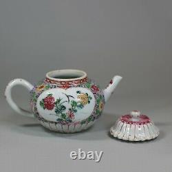Antique Chinese chrysanthemum famille-rose teapot, Yongzheng (1723-1735)