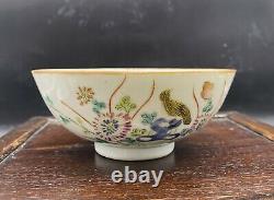 Antique Chinese famille Rose porcelain Bowl Tongzhi