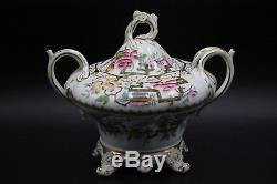Antique Fine English Bone China 21 Piece Tea Set Service Chinese Tree Pattern