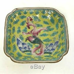 Antique Footed Chinese Porcelain Dish