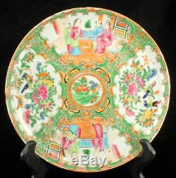Antique High fire Porcelain Chinese Famille Rose Medallion Cabinet Wall Plate 8