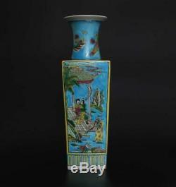 Antique Old Chinese Famille Rose Porcelain Vase Kangxi Marked 47cm