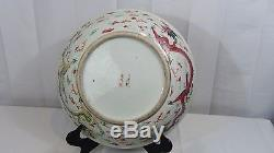 Antique Qianlong Period Chinese Porcelain Five-clawed Imperial Dragon Charger