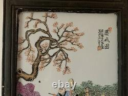 Beautiful Chinese Painted Porcelain Panel