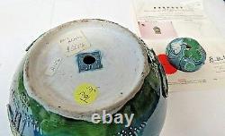 Certified Original 19th Century Chinese Qing Dynasty Rose Porcelain Jar 7.5