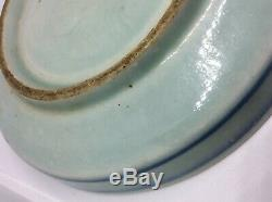 Chinese Antique Blue and White Porcelain Plate Floral Patter, Kangxi Period