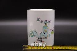 Chinese Antique Porcelain Famille Rose Pen Holder