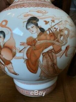 Chinese Antique Porcelain Pair Vase China Asian